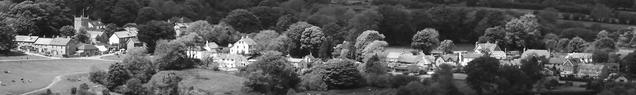 Black & White Image of Belstone from Cosdon