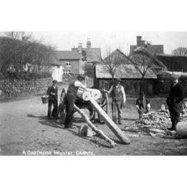 Men Working at Brock's Granite Yard