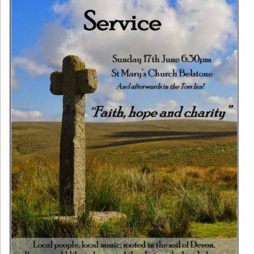 Dartmoor Folk Service – 17th June 2018