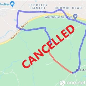 Road Closure Cancelled