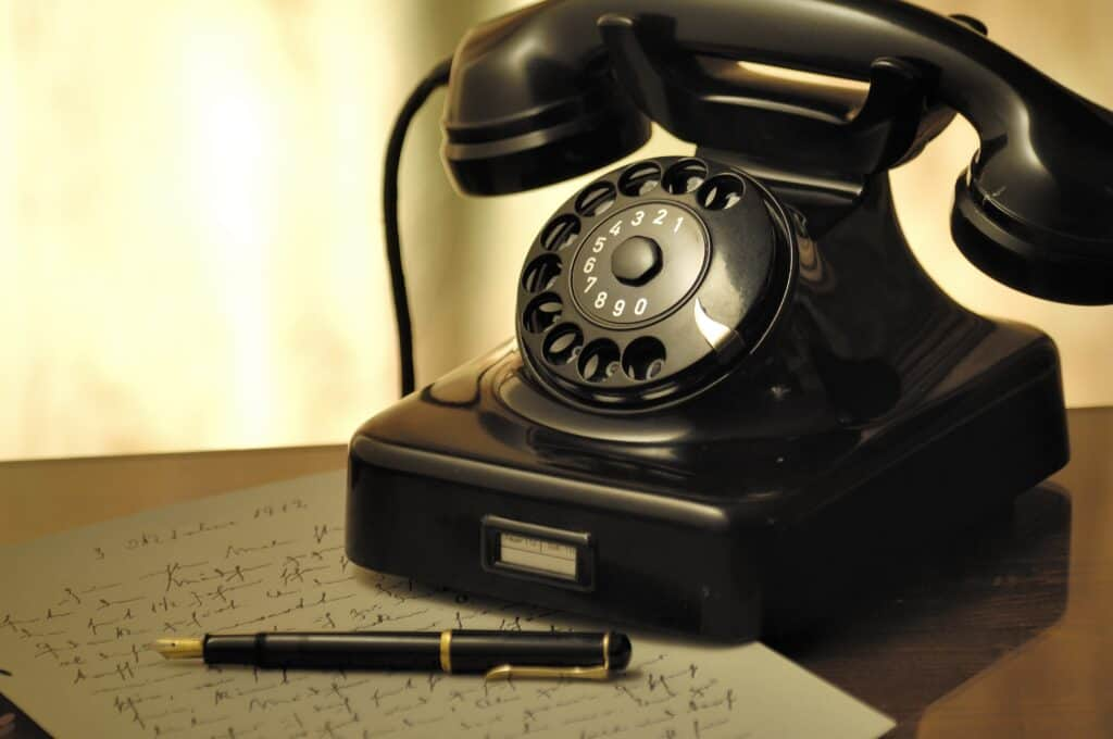 Phones, Power and Persuasion - Stock photo of old telephone